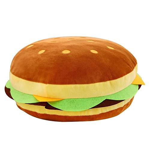 Lixinke Cuscino Copri Cuscini Divano Cuscino Cheeseburger, Peluche Bambini Hamburger Cuscino di tiro...