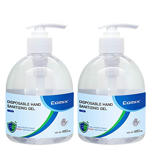 Comix Hand Sanitizer Gel 16 Fl Oz /480ml Alcohol Based, Free Foaming Hand Sanitizer, No Rinse Foam Hand Soap Gel, Kid Friendly, L902-2 Pack