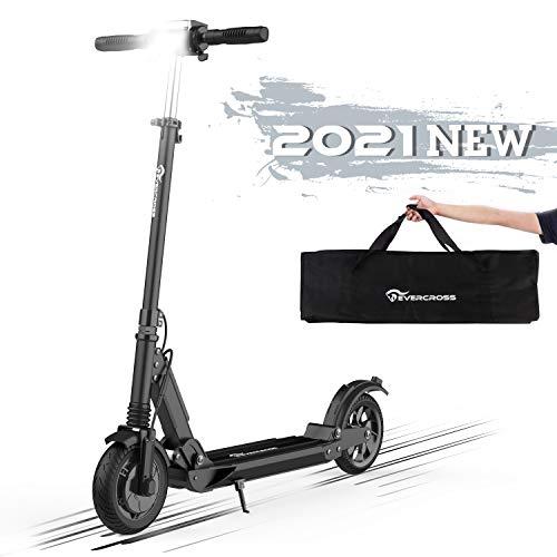Hoverboards Monopattino Elettrico, 8' Scooter Elettrico per Adulto velocità Massima 30km/h, Fanale e Display a LCD, Scooter Super Leggero Monopattino Elettrico Pieghevole