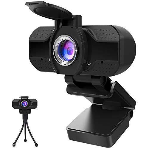 Webcam 1080P Full HD con Micrófono Y Cubierta de...