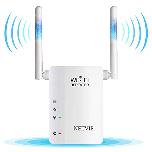 300Mbps WiFi Range Extender Signal Booster Wireless High Speed Repeater with External High Gain Antenna, Wall Plug Wifi Blast for 360 Full Signal Coverage, Work with Any Router & Alexa DeviceNewest