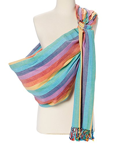 Hip Baby Wrap Ring Sling Baby Carrier for Infants and Toddlers (Summer Rainbow)