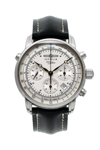 Zeppelin Watches Herren-Armbanduhr XL Analog Automatik Leder 7618-1