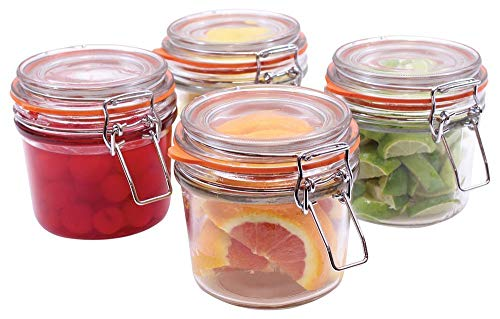 4-Piece Resealable Condiment Jar Set