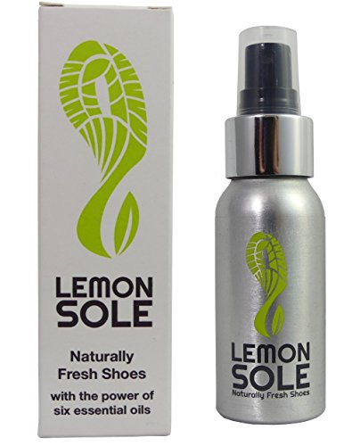 Lemon Sole - POWERFUL & NATURAL shoe freshener & deodoriser with 6 essential oils. Great for Sport. Very effective!