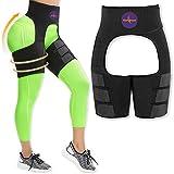 HerBose Waist Trainer for Women, Butt Lifter and Hips Enhancing Shapeware Belt (Black, Medium)