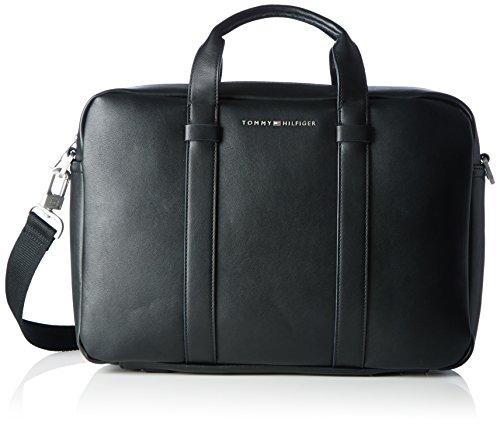 Tommy Hilfiger Herren TH CITY Laptop Tasche Schwarz (Black)
