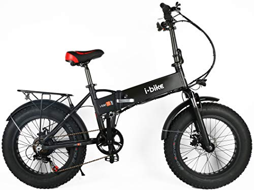 i-Bike I- Fold Fat 20' Unisex Adulto, Black, Unica