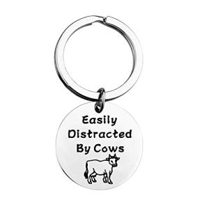 MAOFAED Funny Cow Gift Cow Lover Gift Cow Farmer Gift Easily Distracted by Cows Cows Farm Pet Pygmy Cows Gift