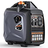Portable Power Station with Gas, Super Quiet Outdoor Gas Inverter Generator,Power Station for Home Emergency Back-Up Camping Travel Hunting