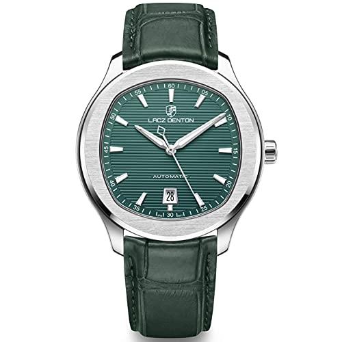 LACZ DENTON Automatische Mechanische Uhr Japanische Miyota Bewegung Business Casual wasserdichte Leuchtende Analoge Armbanduhren für Männer -LD9107 (LD9107 Grün)