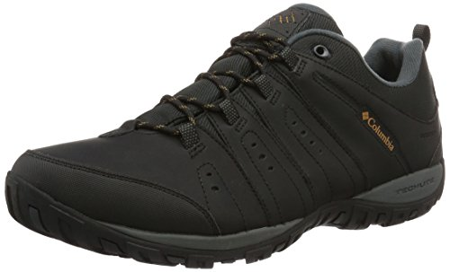 Columbia Woodburn II, Zapatos Impermeables Hombre, Negro (Black, Monument), 42 EU