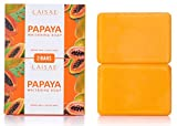 Papaya Whitening Soap - For Natural Skin Lightener - Help Exfoliates & Cleanses Body-Facial - Eliminates Acne Scars, Age Spots, Discoloration & Fine Lines -Suitable For All Skin Types (2 Bars/3.52 Oz)