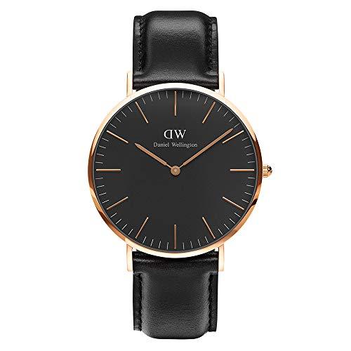 Daniel Wellington Herren Analog Japanese Quartz Uhr mit Leder Armband DW00100127