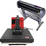 USCutter 28' Vinyl Cutter + 15' x 15' Digital Heat Press Machine...