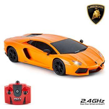 CMJ RC Cars™ Lamborghini Aventador LP700-4 Officially Licensed Remote Control Car 1:24 Scale Working Lights 2.4Ghz (Orange)
