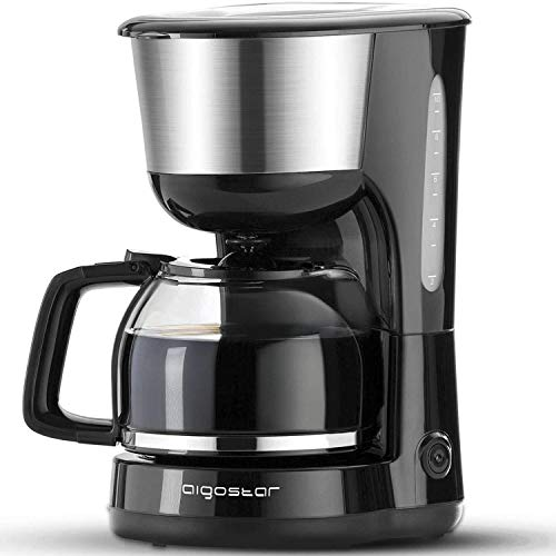 Aigostar Chocolate 30HIK - Macchina per caffe' 10 Tazze, Macchina Caffè Americano 1000 Watts,...