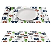 【Environmental placemats】 Environmentally friendly kitchen accessories, stylish cross-woven patterns, using high-quality environmentally friendly PVC materials, very durable and color-fast. Protect your table from scratches and stains. Liquid will se...