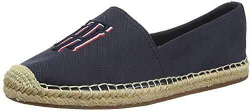 Tommy Hilfiger Nautical TH Basic Espadrille, Zapatos de tacón con Punta Abierta para Mujer, Azul (Desert Sky Dw5), 40 EU