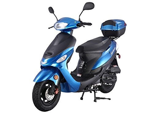 TAO SMART DEALSNOW Brings Brand New 50cc Gas Fully Automatic Street Legal Scooter TaoTao Pony50 ATM50 with Matching TRUNK Included - Blanco White