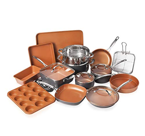 Gotham Steel Cookware + Bakeware Set with...