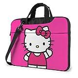 XCNGG Maletín para Ordenador portátil Red Kitty, maletín de Negocios para Hombres y Mujeres, Bandolera de Hombro, Estuche para computadora portátil, Bolsa de Transporte, 13 Pulgadas