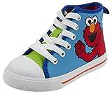Sesame Street Elmo Hi Top Sneaker Shoe, Blue Green, Little Kid Size 10