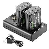 Neewer LP-E6 LP-E6N Batterie de Rechange Rechargeable et Chargeur Kit,...