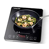 Plaque à induction, Amzchef plaque de cuisson à induction avec surface en...