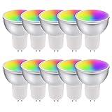 HNQH Ampoule intelligente GU10 LED, lampe WiFi à commande vocale à...