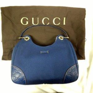Gucci Cobalt Blue Handbag 11