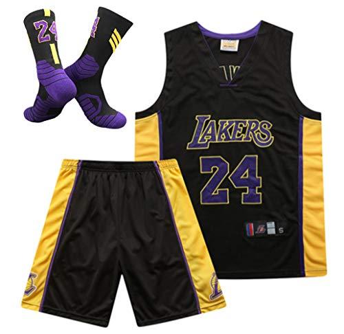 CNMD Maglia da Basket da Uomo, Maglia da Basket Kobe Bryant # 24# 8 dei Los Angeles Lakers, Set,...
