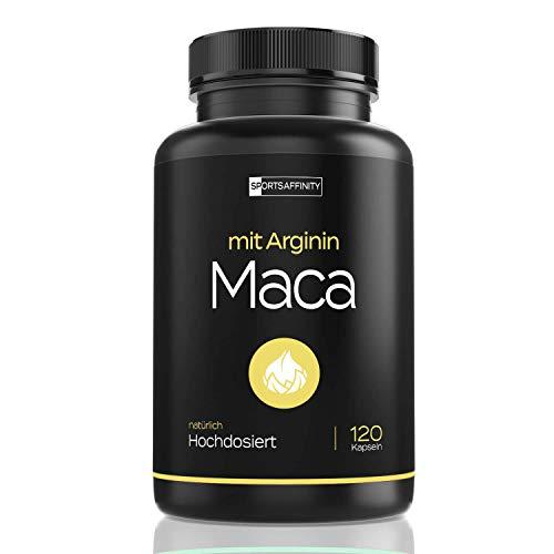 Premium Maca Wurzel Extrakt 1000mg mit L-Arginin 2400mg und 10mg Zink - Hochdosiert für aktive Männer & Frauen - Hohe Bioverfügbarkeit - 120 Kapseln