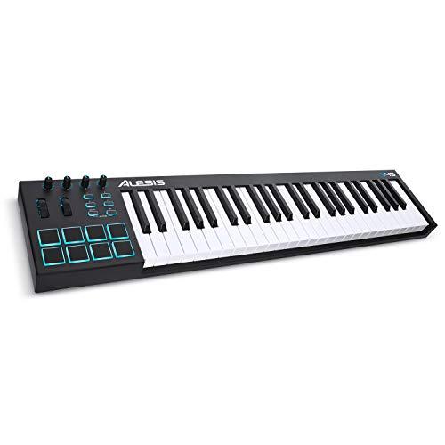 Alesis V49 - Tragbarer 49-Tasten USB-MIDI Keyboard Controller mit 8 hintergrundbeleuchteten Pads, 4 zuweisbaren Encodern und einem professionellen Softwarepaket inklusive Pro Tools   First