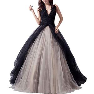 Fair-Lady-Gothic-Black-Ball-Gown-Wedding-Dress-Halter-Beaded-Appliques-Long-Evening-Prom-Dress-2020