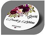 CrisPhy Étiquettes adhésives personnalisées pour Invitation, Mariage, baptême, fiançailles, Anniversaire, fête, Noël, Vintage
