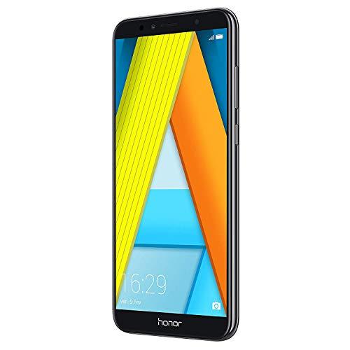 """Huawei Honor 7A Smartphone Dual SIM 14.5 cm (5.7 """"), (4G, Octa-Core Snapdragon 430, 2 GB di RAM, 16 GB di memoria, fotocamera da 13 MP, Android Oreo), Nero"""