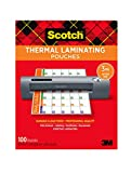 Scotch Thermal Laminating Pouches, 100-Pack, 8.9 x 11.4 Inches, Letter Size Sheets (TP3854-100) (Office Product)