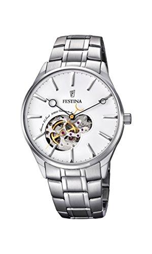 Festina Herren Analog Automatik Uhr mit Edelstahl Armband F6847/1