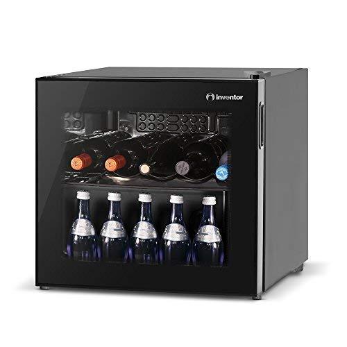 Inventor'Vino' - Cantinetta Vino da 43L,10 bottiglie, Porta reversibile a Doppio Vetro Trasparente...