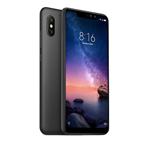 "Xiaomi Redmi Note 6 Pro 64GB + 4GB RAM 6.26"" Dual Camera LTE Factory Unlocked Smartphone - Global Version (Blue)"