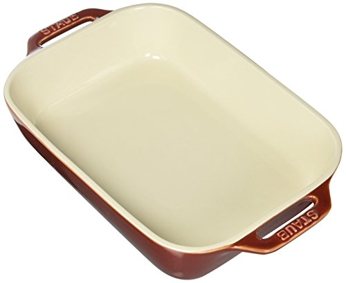Staub 40511-885 Ceramics Rectangular Baking Dish, 10.5x7.5-inch, Rustic Red
