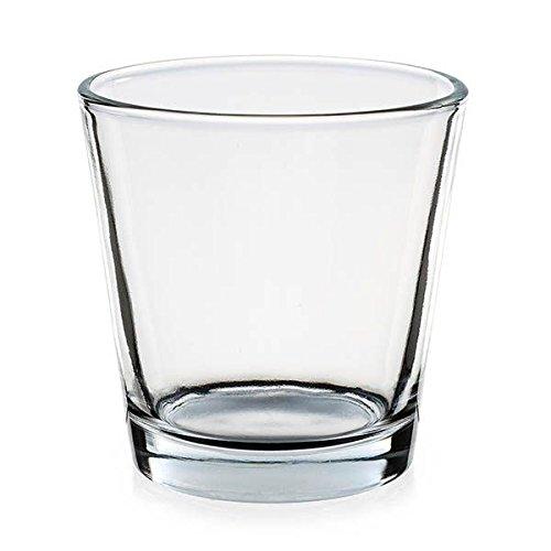 Pajoma 09565b Tè luce vetro forma di imbuto, 7,5 x 5,5 x 7,5 cm, 12pezzi