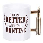 DEI 50547 Ceramic Mug, 5.0 x 5.0 x 4.25, White/Gold
