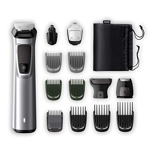 Philips Grooming Kit serie7000 MG7720/18 Tagliacapelli, Regolabarba uomo, Rifinitore...