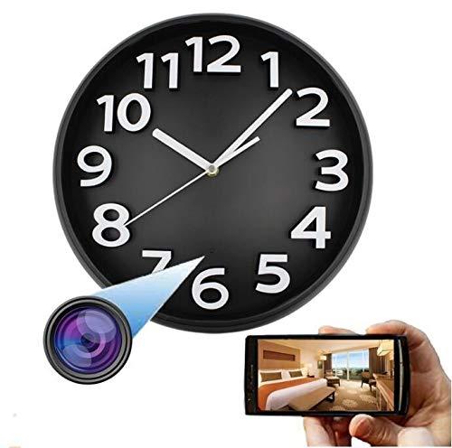 Telecamere Spia Nascoste, 1080P HD Orologio Da Parete Telecamera SPY Telecamera IP Telecamera IP Visione Notturna Telecamera Nascosta Wifi Orologio Da Parete Telecamera, Per La Sicurezza Di Casa