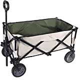 YOLER YOLER Utility Collapsible Wagon, Folding Beach Wagon, Camp Grocery Cart with Wheels for Outdoor Garden Camping