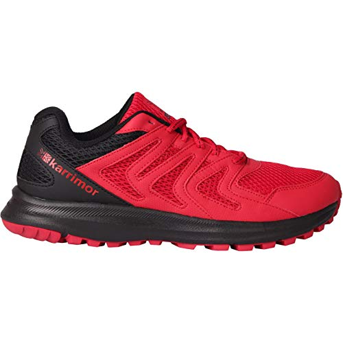Karrimor Mens Caracal Trail Running Shoes Runners Lace Up Breathable Padded Red/Black UK 9 (43)