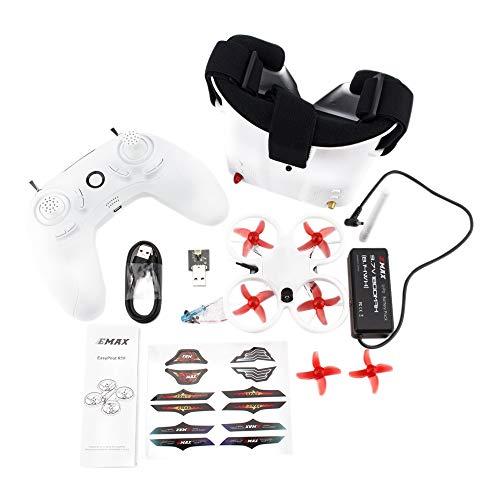 Nrpfell FPV Drone Kit 82MM 5.8G Indoor FPV Racing Drone con Telecamera Goggle RC Drone 2-3S Versione RTF per Principianti