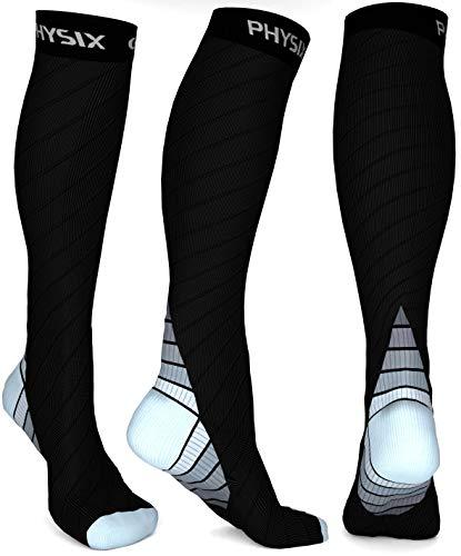 Physix Gear Compression Socks for Men & Women 20-30 mmhg